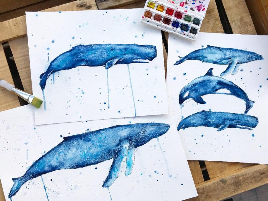 Creative Crafters-  Whale TailArt