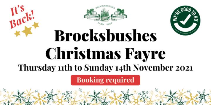 The Brocksbushes Christmas Fayre isback!
